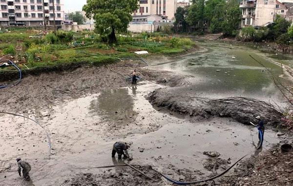 河道排干清淤