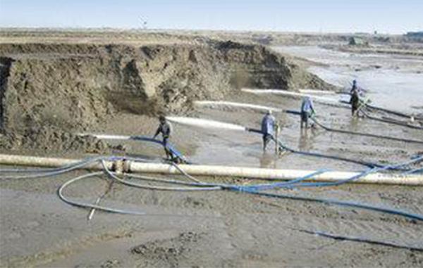 水力开挖河道