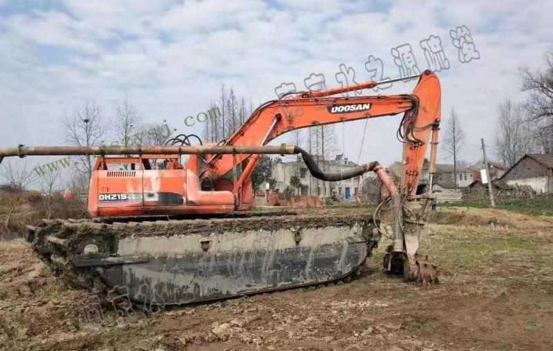 自制设备清淤(水挖机加装绞吸头)